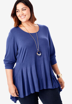 Flared Hi-Low Tunic,