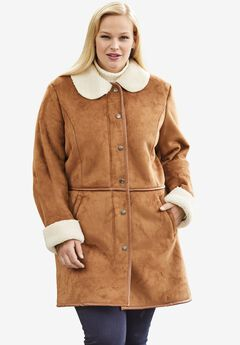 Faux Shearling Car Coat,