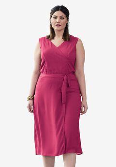 Crinkle Midi Dress,