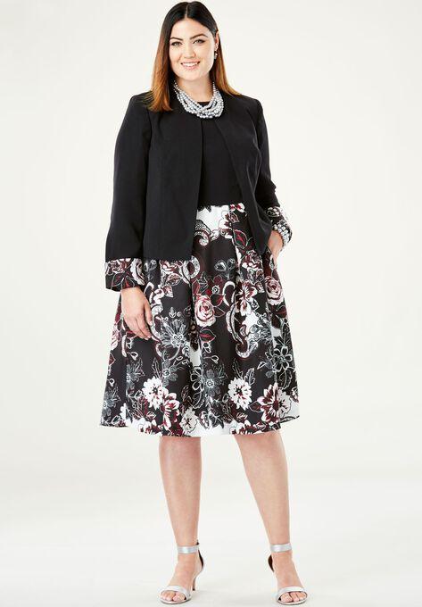 Colorblock Jacket Dress| Plus Size Jacket Dresses | Fullbeauty