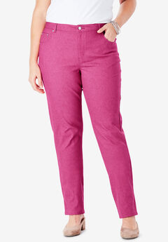 True Fit Straight Leg Jeans, BRIGHT BERRY
