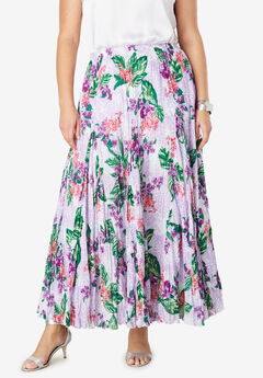 c7041a79156 Cotton Crinkled Maxi Skirt