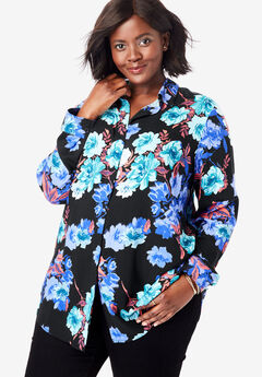 Soft Button Front Shirt,