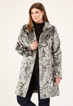 Silver Car Coat by Donna Salyers Fabulous-Furs®,