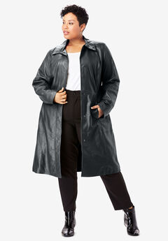 Trench Coat, BLACK