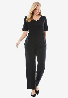 Elbow Sleeve Jumpsuit,