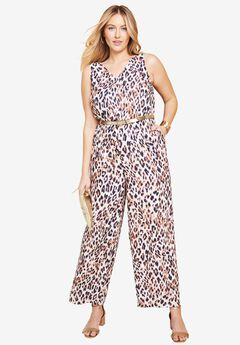 Faux Surplice Jumpsuit,