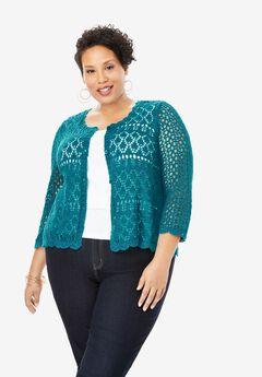 Crochet Sweater, DEEP TURQUOISE