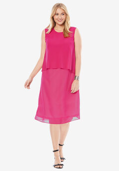 Scoopneck Overlay Dress,