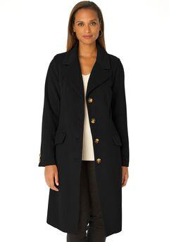 Three-Quarter Wool-Blend Coat,