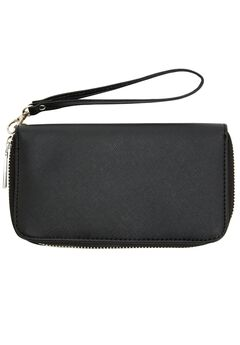Saffiano Look Faux Leather Wallet,