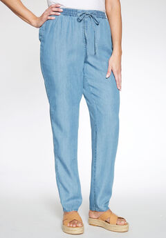 Tencel® Drawstring Pants, BLEACH