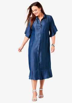 Tencel® Shirtdress, INDIGO