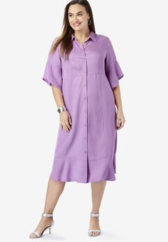 db48b93a4cd Tencel® Shirtdress. Jessica London