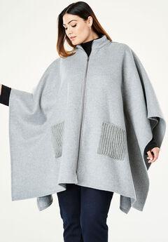 Wool Cape Coat,