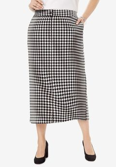 Tummy Control Bi-Stretch Midi Skirt,