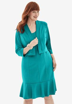 Ponte Jacket Dress, JADE
