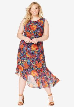 Asymmetrical Hem Dress,