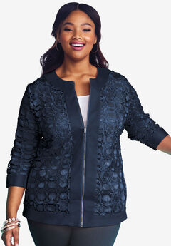 Lace Jacket, NAVY