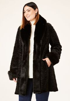 Faux Fur Tuxedo Coat by Donna Salyers Fabulous-Furs®,