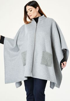 Wool Cape Coat,