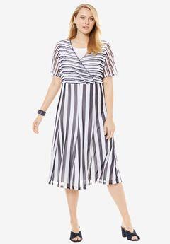 Fit & Flare Midi Dress,