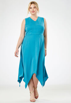 Handkerchief Hem Maxi Dress,