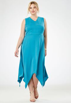 Handkerchief Hem Maxi Dress,