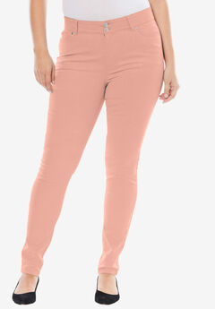 Tummy-Control Skinny Jeans, VINTAGE CORAL