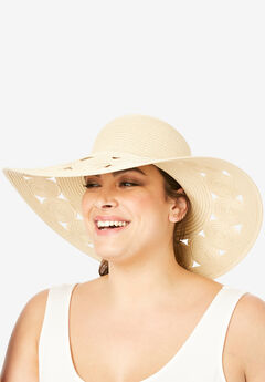 Floppy Hat with Cut-Out Brim,