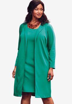 Ponte Jacket Dress, GREEN JADE