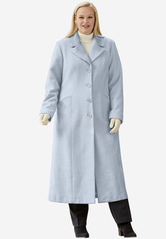 4f2a3cf6e1a Full Length Wool Blend Coat. Jessica London