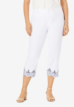 Stretch Poplin Crop Pant,
