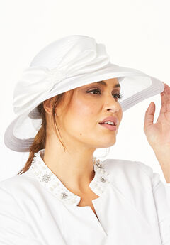 Derby Hat with Embellished Bow,