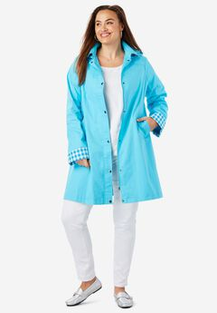 A-Line Hooded Raincoat,