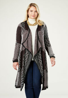 Jacquard Sweater Duster,