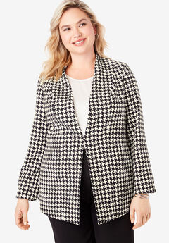 Collarless Bi-Stretch Blazer,