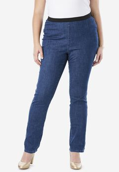 Straight Leg Stretch Denim Jeggings,