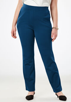 Wide Leg Trousers in Ponte Knit,