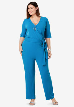 Side-Tie Wide Leg Jumpsuit,