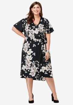 2-Piece Dress, BLACK PRIMROSE
