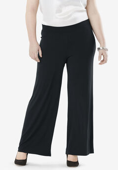 Travel Knit Wide Leg Pants,