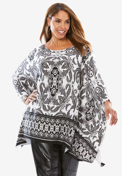 Boatneck Sweater Poncho,