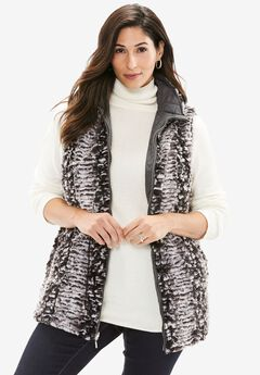 Reversible Faux Fur & Quilted Vest,