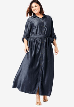 Tencel® Maxi Dress, INDIGO