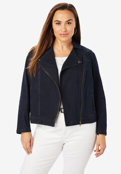 Refined Denim Moto Jacket,
