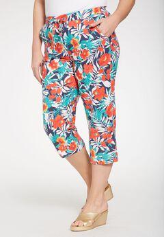 Linen Capri Pants,