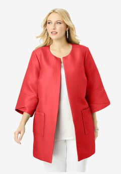 Tulip Sleeve Jacket, SOFT GERANIUM