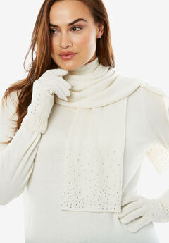 Jeweled Scarf and Glove Set,