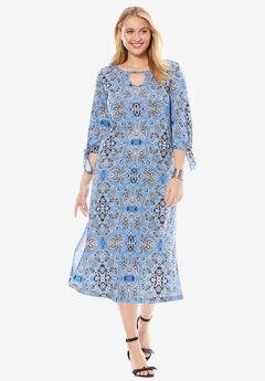 Keyhole Midi Dress,